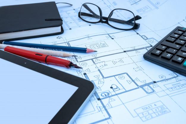 architect-design-working-drawing-sketch-plans-blueprints-architect-studio_51530-1150
