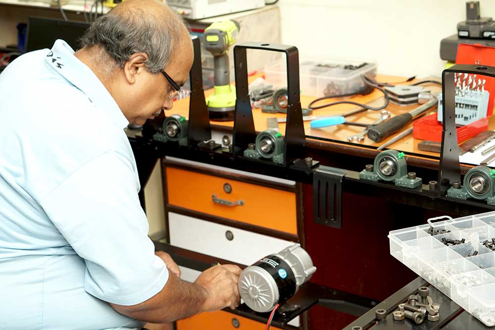 Working at new industrial machine design at Compu Drive System
